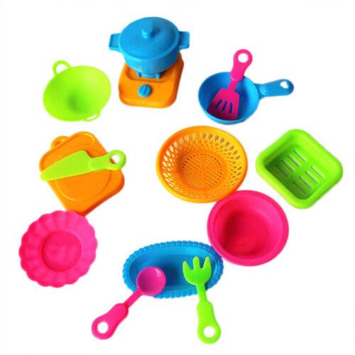 Set Simulation Cuisine Vaisselle Enfants Jeux de Rôle Jouet Agréable 15pcs