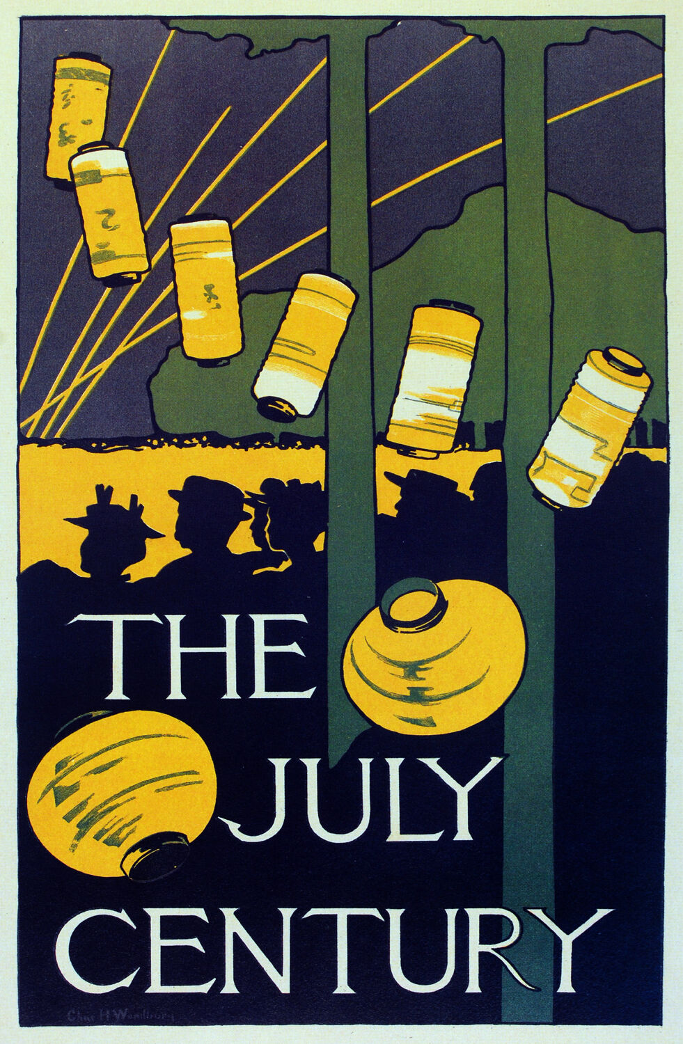 2167 The July century Art Decoration POSTER.Graphics to decorate home office.