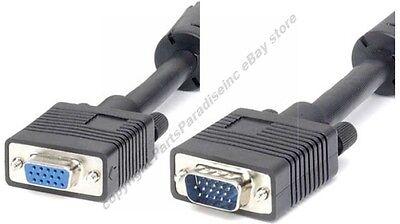 25ft Long Svga/vga Male-female Extension Monitor/video Cable/cord$shdis{3xshield