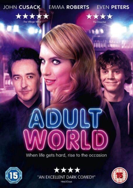 ADULT WORLD - John Cusack, Evan Peters, Emma Roberts New Sealed UK Region 2 DVD