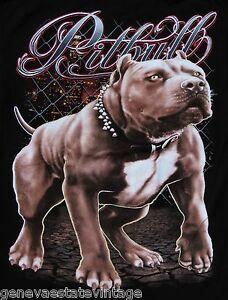 Image Is Loading Urban Pitbull Dog With City Background Black Short