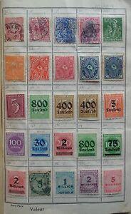 Europe et Monde, collection de timbres dans un carnet - France - Europe et Monde, collection de timbres dans un carnet.La collection est rangée dans un vieux carnet.Les timbres sont montés l'aide de charnires.La collection a été arrtée avant 1950.Il y a environ 460 timbres d'Europe et du Monde.Timbres tou - France