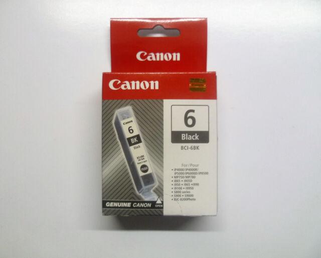 Original Canon BCI-6BK BCI6BK BCI-6 BK Black Unused Sealed New