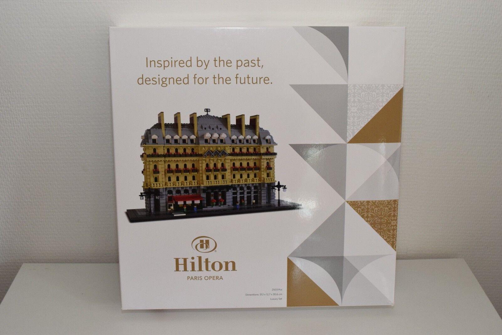 LEGO HILTON PARIS OPERA HOTEL BUILDING LUXURY SET 500 ONLY MINT IN BOX RARE RARO    Erste Kunden Eine Vollständige Palette Von Spezifikationen