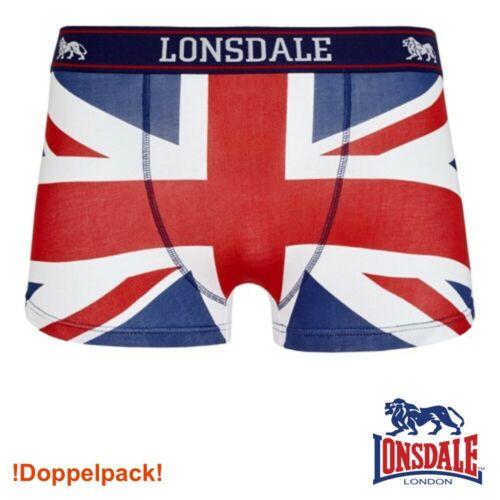 Unterhose Boxing Fitness Gym DOPPELPACK NEU Lonsdale Herren Boxershort Tisbury