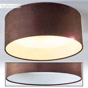 led deckenleuchte design stoff braun k chen flur zimmer decken lampen 14 watt ebay. Black Bedroom Furniture Sets. Home Design Ideas