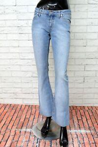 Jeans-REPLAY-Donna-Taglia-W-28-L-34-Pantalone-Woman-Pants-Elastico-A-Campana
