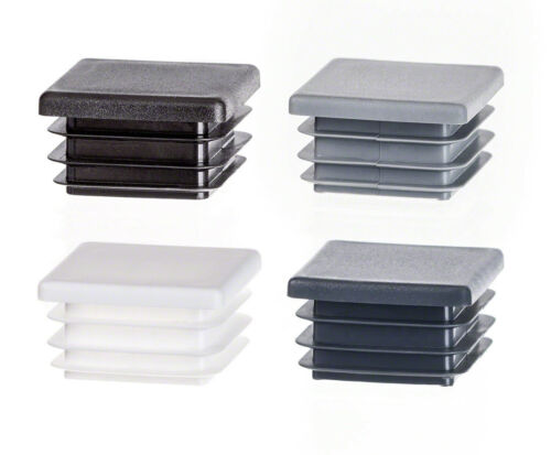5 caps End Caps Square Plastic Blanking Tube Pipe Inserts Cover various sizes