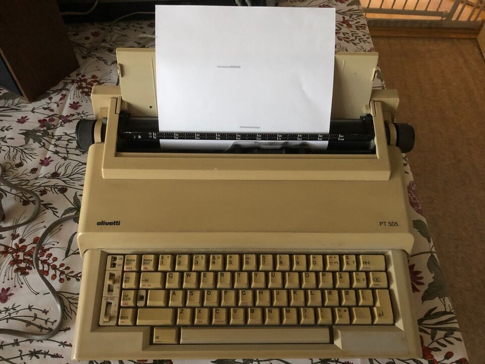 Elektrisk Skrivemaskine.