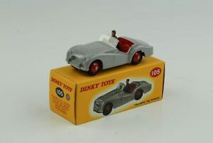 Triumph-TR2-Sports-Gris-avec-Figure-Ref-105-1-43-Dinky-Toys-Atlas