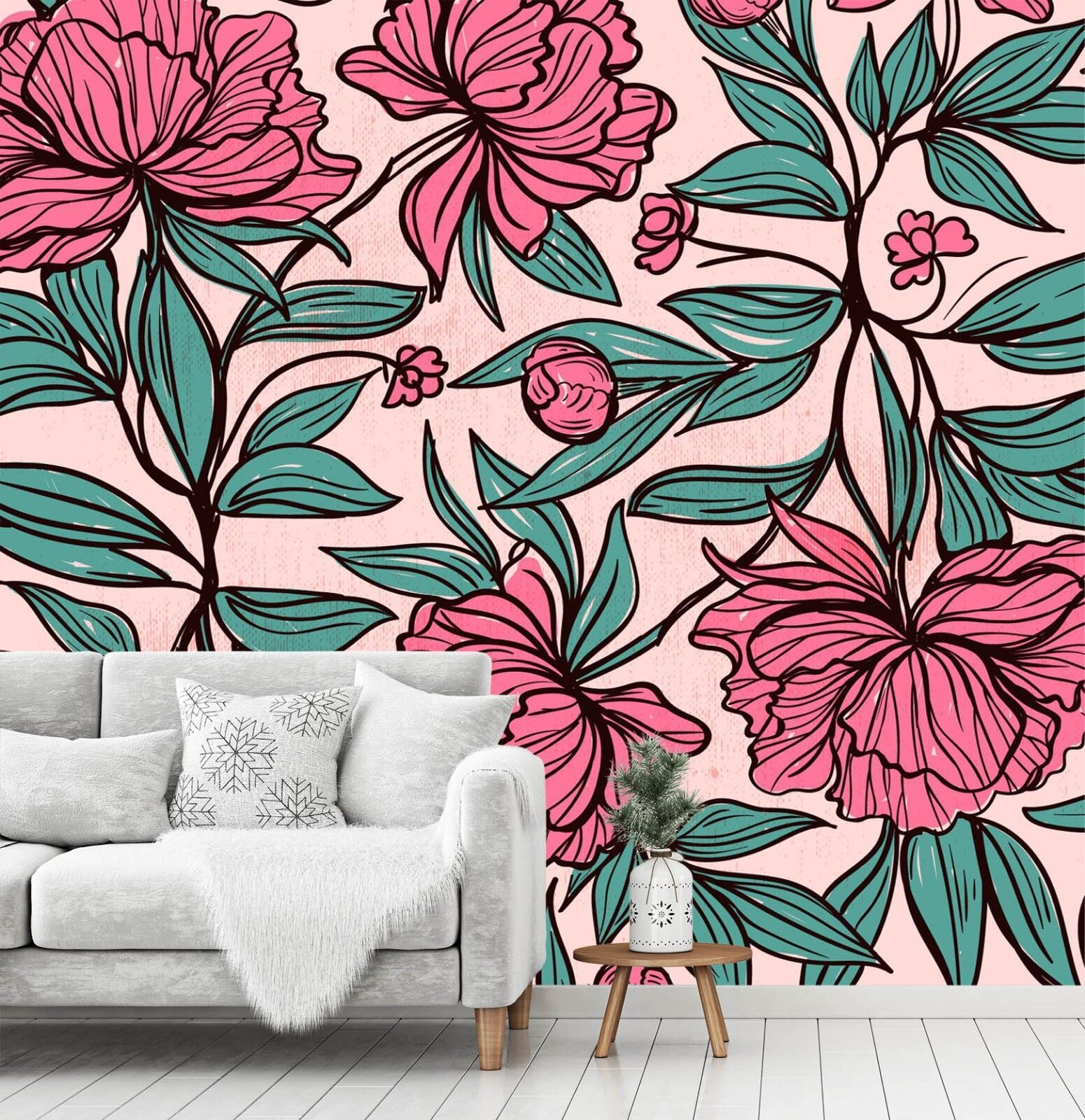 3D Beautiful rot Flowers 45 Wall Paper Wall Print Decal Deco Indoor Wall Mural