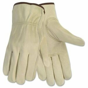 Mcr Safety Durable Cowhide Leather Work Gloves - Large Size - Cowhide Leather -
