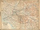 1897 BAEDEKER ANTIQUE MAP-ITALY- CAMPAGNA DI ROMA