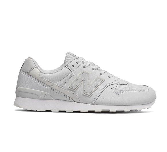 Schuhe Damenschuhe NEU Balance Sneakers Sportive WR996SRW Bianco Pelle Nuovo Lacci