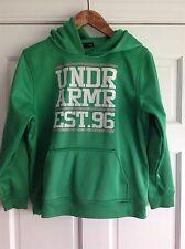Under Armour UA Green Hoodie Sweatshirt Boys Large