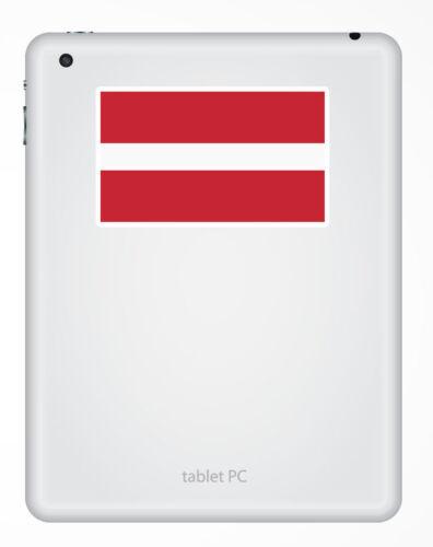 2 x 10cm Latvia Flag Vinyl Sticker iPad Laptop Car Travel Luggage Tag #5276
