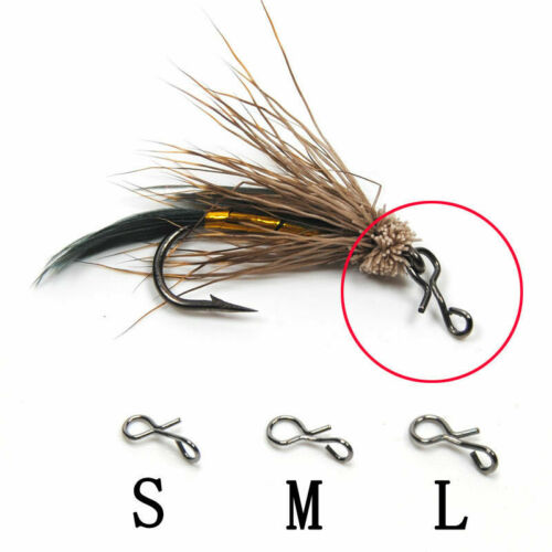 50//100pc Fly Fishing Snap Quick Change for Hook Lures Outdoor Fishing Hot