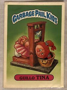 VERY-RARE-1986-GARBAGE-PAIL-KIDS-GUILLLO-TINA-GPK-AWARD-37-HUGE-5-034-X-7-034-STICKER