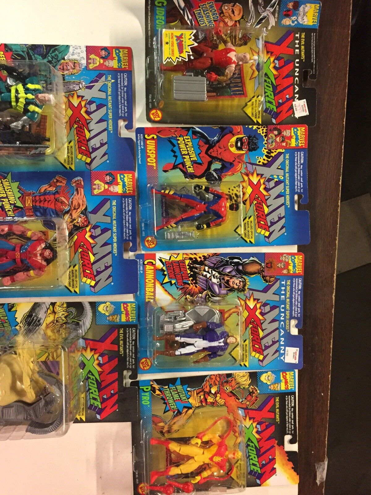 Lot of 7 - 1993 Toy Biz Marvel Figures X-Force