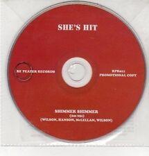 (DD401) She's Hit, Shimmer Shimmer - 2011 DJ CD