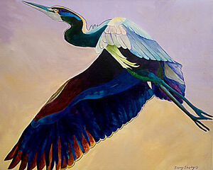 Flight-of-the-Heron-8X10-BIRD-Print-from-Artist-Sherry-Shipley