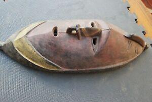 A good large Papua New Guinea ancestor spirit carved wooden mask OLD
