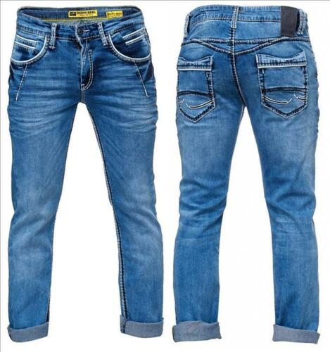 Rusty Neal Jeans New York Jeanshose mit Kontrastnähten