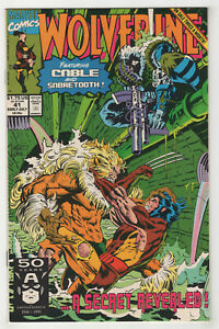 Wolverine-41-1991-Marvel-Choose-One-Newsstand-or-Direct-Sabretooth-amp-Cable