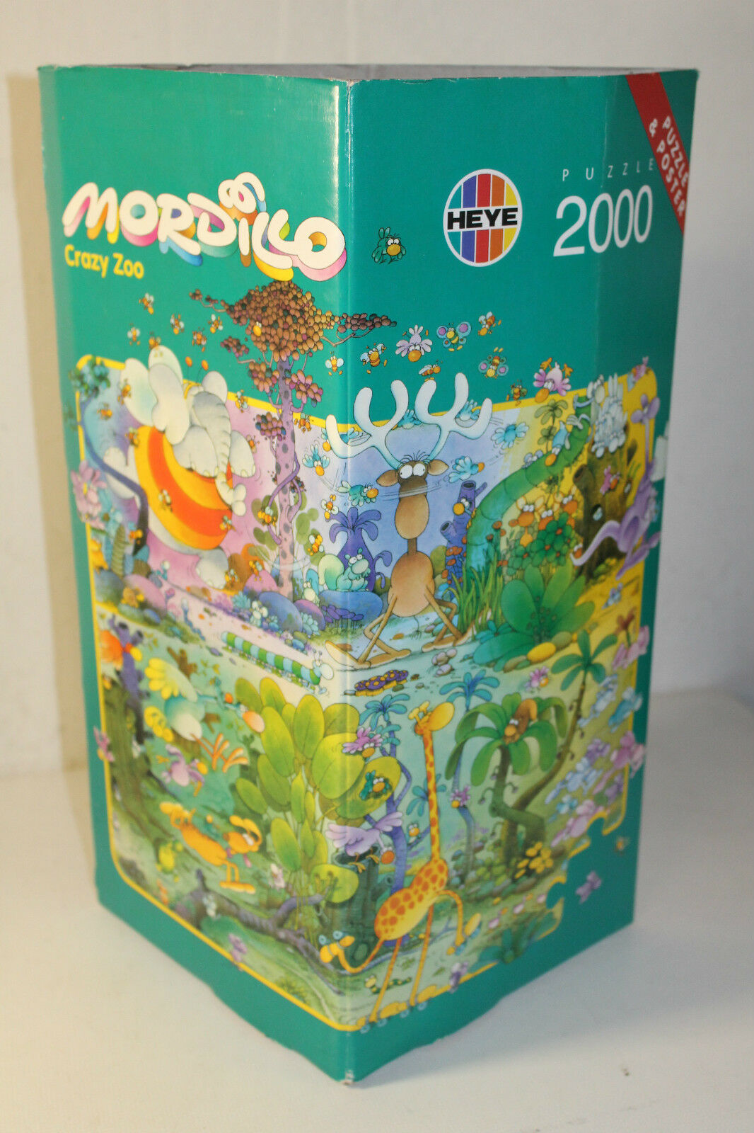 Heye Heye Heye 8659 Puzzle Mordillo Crazy Zoo 2000 teile OVP NEU + Poster RAR Sold Out c80a33