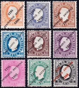 PORTUGAL-MOZAMBIQUE-COLONY-1895-PADUA-SET-SC-36-44-MNGAI-CV-172