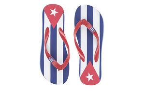 AG AC007883 INFRADITO UOMO MARE GOMMA CUBA BANDIERA FLAG ROSSO