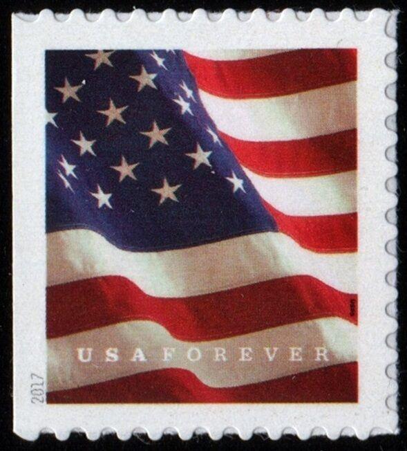 2017 49c U.S. Flag Booklet Forever Single, SA Scott 516
