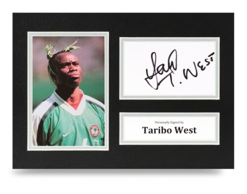 Taribo West Signed A4 Photo Display Mexico Autograph Memorabilia + COA