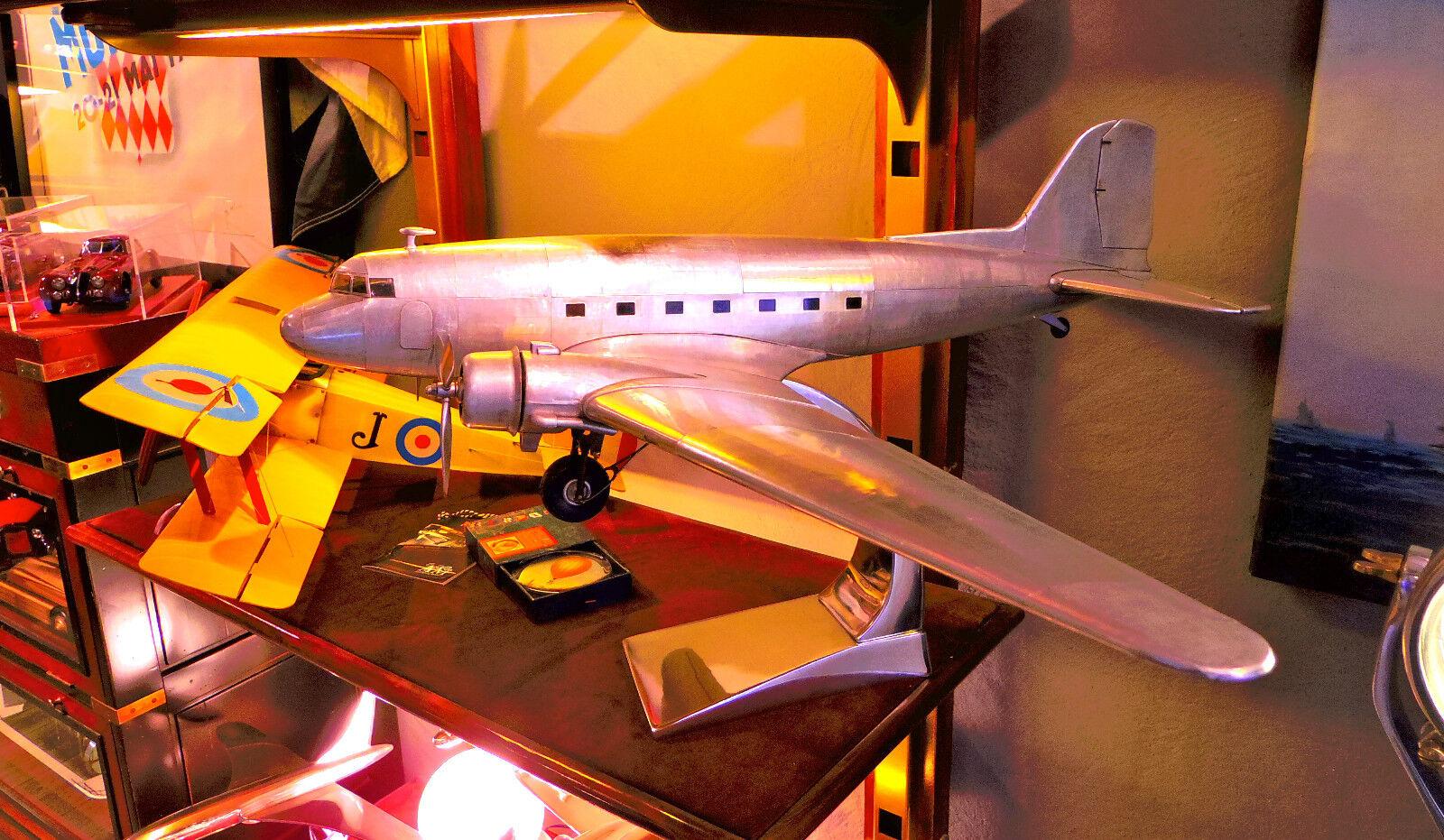 NEW  Aircraft Model Dakota DC3, Handmade from aluminium, Wingspan 97cm