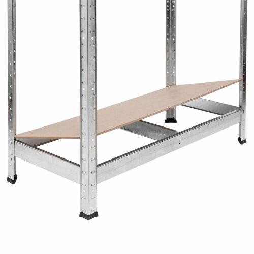 Galvanised Shelving Garage Storage Unit Racking Heavy Duty Shelves 180x90x40 cm