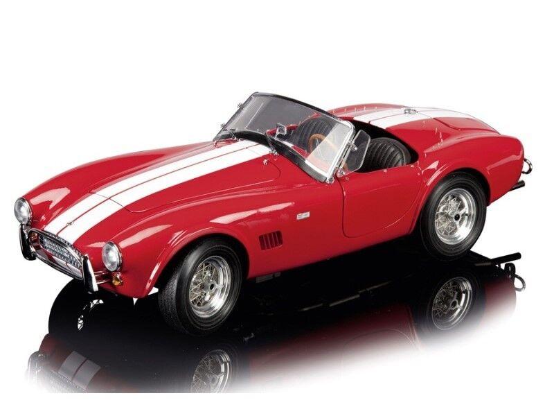 Schuco AC COBRA 289 Rosso con Strisce Bianco Limited Edition 500 1:12