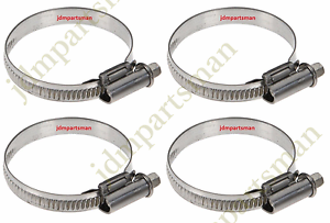 Narrow Band 9mm Steel Hose Clamp 50-70mm - Made in Germany Pack of 4 HC50-70/9