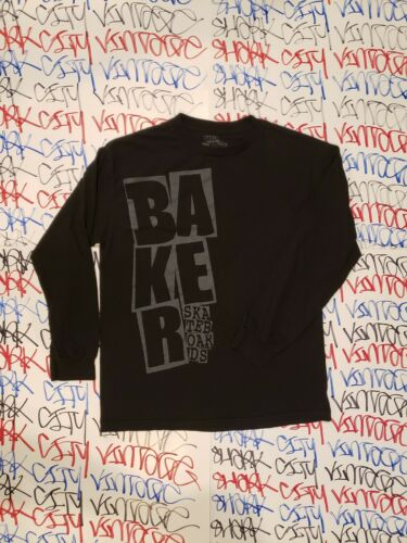 Baker Skateboards Long Sleeve Shirt Large 90s Skat