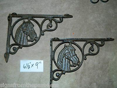 Vintage Style Cast Iron Wall Shelf Brackets Support 10x10cm