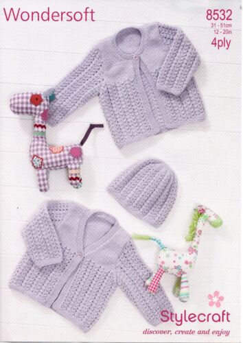 STYLECRAFT 8532 Baby 4PLY KNITTING PATTERN not the finished items