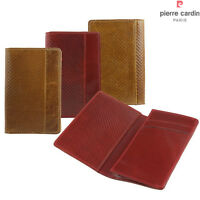 Genuine Leather Name Credit Business Member Card Case Holder ID Pocket Slim
