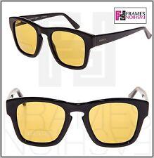 a4e3f3c9992 GUCCI GG3791S Square Sunglasses Shiny Black Yellow Mirrored 807BZ 3791  Unisex