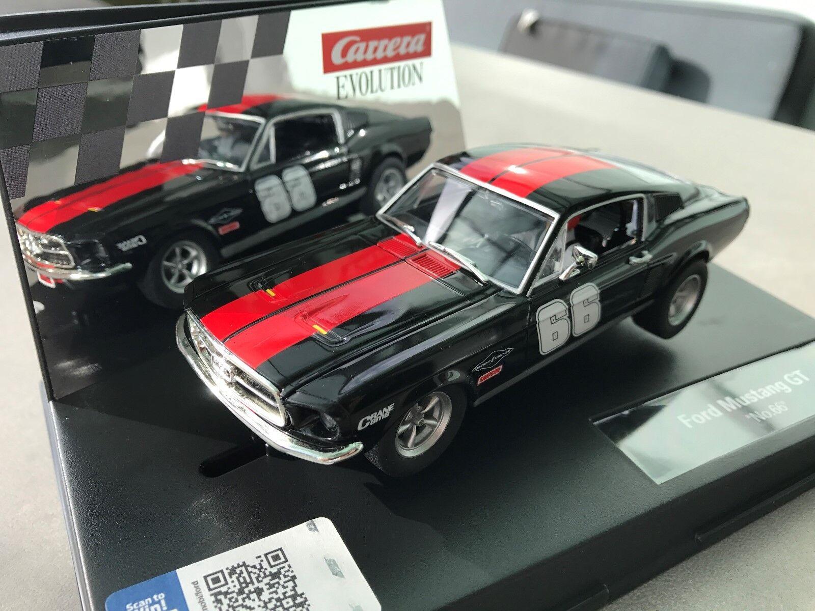 Carrera Evolution 27553 Ford Mustang GT   no.66   NIP