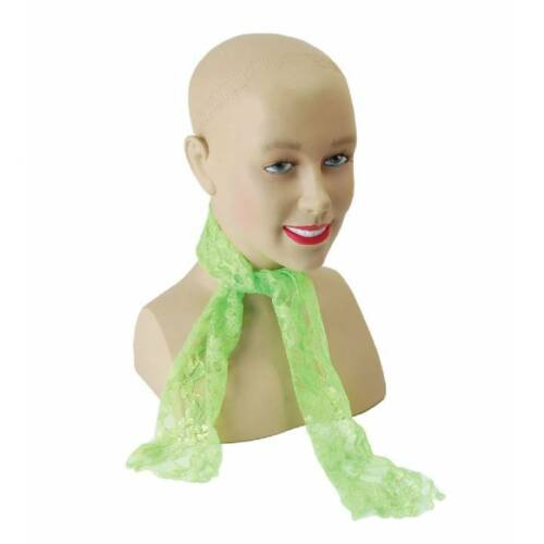 Ladies 1980s Lace Neon Neck Scarf Hen Party Fancy Dress Costume Accessory