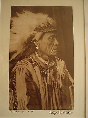 Vintage Photogravure Rodman Wanamaker Circa 1920 Chief Red Whip