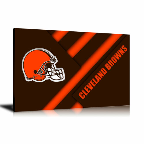 HD Print Oil Painting Wall Art on Canvas Cleveland Browns 24x36inch Unframed