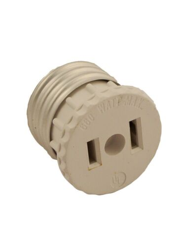 660 Watt 2-Wire Leviton 125 15 Amp 2-Pole Socket To Outlet Adapter 125 Volt