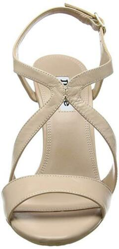 RRP £75 DUNE MOJOE SIZE 7 40 NUDE BEIGE REAL LEATHER HIGH WEDGE  SHOES SANDALS