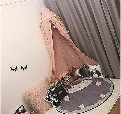 Krachtig Cotton Canvas Dome Bed Canopy Kids Play Tent Mosquito Net For Baby Kids Play Rijk Aan PoëTische En Picturale Pracht
