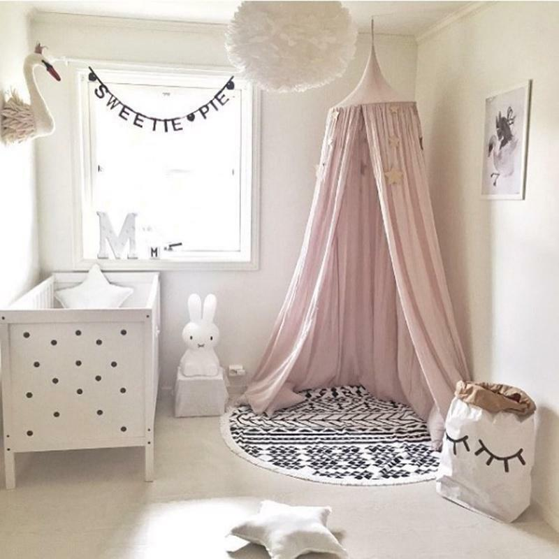 Baby Mosquito Net Hanging Dome Bed Curtain Tent For Baby Kid Bedroom Decor